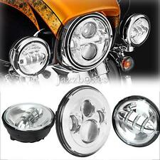 LED Daymaker Headlight Passing Lamp For Harley Davidson Heritage Softail Classic