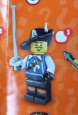 Lego 8804 Series 4 #3 french three MUSKETEERs figure Minifigure New Sealed pack