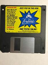 "America Online AOL  3.5"" Floppy Disk version 3.0 (Windows) copyright 1994-1996"