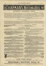 1878 Chapman Notting Hill stagione primaverile giapponese Silks Corsetti