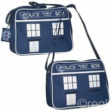 NUOVO Doctor Who Tardis Messenger Borsa a tracolla Back To School Gym Retrò Ufficiale