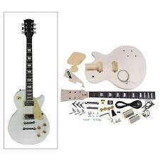 LP Style Electric Guitar DIY Kit Set Mahogany Body Neck 22 Frets 6 Strings Y0Z7