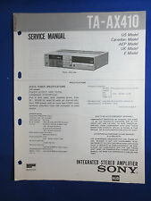 SONY TA-AX410 INTEGRATED AMPLIFIER SERVICE  MANUAL FACTORY ORIGINAL GOOD COND