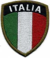 Toppa ricamata patch termoadesiva SCUDETTO ITALIA cm. 7 x 6