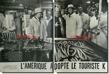 Coupure de presse Clipping 1959  - L'AMERIQUE A ADOPTER LE TOURISTE K