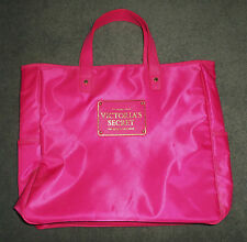 Women's Pink, Gold VICTORIA'S SECRET Satin Texture Logo Tote Purse, GUC!