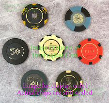 """FALLOUT New Vegas Collector's Edition """"Lucky 7 Poker Chips"""" EXCELLENT Set!"""