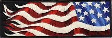 US FLAG REFLECTIVE Right Armband PATCH 7 x 2.5 Motorcycle Biker 700' VISIBILITY