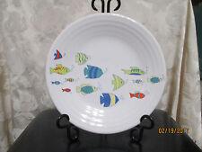 """Fiesta Ware """"Belk Exclusive"""" SCHOOL OF FISH  WHITE  Luncheon Plate  9 inch"""