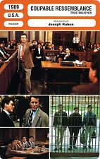 Fiche Cinéma. Movie Card. Coupable ressemblance/True believer (USA) 1980