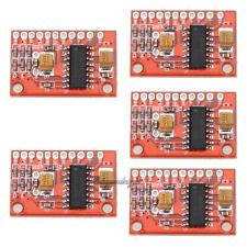 5 Pcs Mini 3W x 2 Digital Audio Amplifier Board USB DC 5V Power Supply Red