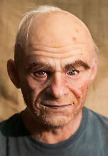 "Silicone Mask Old Man ""Frank"" Halloween, NEW Hand Made, High Quality,"