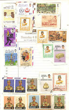 Brunei stamps mounted on envelope then on old scrap book page !
