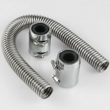 "24""With Caps/Radiator cover Universal STAINLESS HOT RAT ROD RADIATOR HOSE KIT"