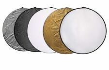 "110cm 43"" 5 in 1 Light Mulit Collapsible disc Reflector"