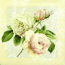 4x Single Lunch Party Paper Napkins for Decoupage Decopatch Craft Cottage Rose