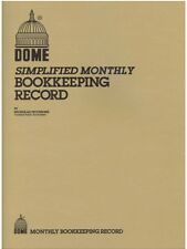 """Dome Monthly Bookkeeping Record Book - 612 - 8-1/2"""" x 11"""" - TAN Cover"""