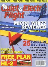QUIET & ELECTRIC FLIGHT INTERNATIONAL MAGAZINE 2004 SEP HL-2 MONOPLANE FREE PLAN