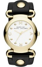 Marc Jacobs Watch * MBM1304 Molly Gold & Black Leather Women COD PayPal GDS17
