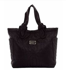 New MARC BY MARC JACOBS Pretty Nylon Quilted Medium Tate Tote Bag Black $198