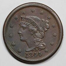 1844 N-3 R2 Intermediate Die State Braided Hair Large Cent Coin 1c
