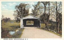 c.1920 Brooks Bridge Washingtonville NY post card Orange County
