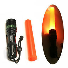 CREE Q5 LED Flashlight Zoomable Torch 300 Lumens Light 3 Modes with Traffic Wand
