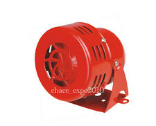 12V Electric Red Motor Driven Air Raid Siren Horn Alarm Loud Car Van Truck 1950s