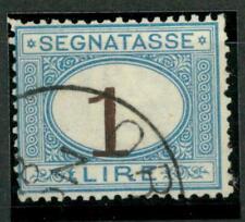 ITALIA - Regno - Segnatasse - 1870-1874 - Cifra in ovale carminio - 1 lira