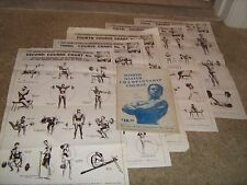 5 Lot Weider Wall Charts Weider System Of Progressive Barbell Exercise +Bonus
