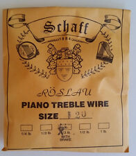 Schaff Roslau Piano Music Treble Wire Size 20 .045 1/3 Lb Coil 60' w Brake