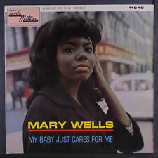 MARY WELLS: My Baby Just Cares For Me LP (UK Mono, small tear & stain on back c
