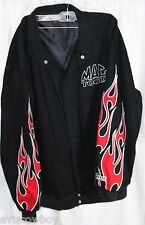 Chase Authentics Nascar Black Mac Tools Red Flames Racing Jacket Men's XL