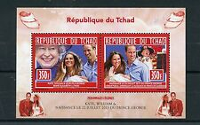 Chad Tchad 2013 MNH Birth Prince George Royal Baby 2v M/S William & Kate