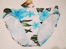 NWTS Women's ISLAND ESCAPE Swimsuit bottoms Blue/white floral  SZ. 10