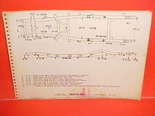 "1955 WILLYS SIX CYLINDER 685 STATION WAGON 104"" WHEELBASE FRAME DIMENSION CHART"