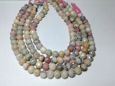 NATURAL PERUVIAN OPAL FACETED ROUND BEADS 10 MM