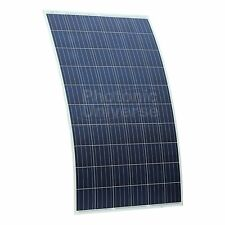 250W Semi-flexible Solar Panel with rear junction box for Motorhome, boat, RV