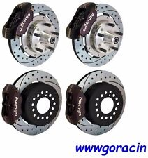 "WILWOOD DISC BRAKE KIT,71-74 AMERICAN MOTORS AMX,Javelin 11"" DRILLED ROTORS,Blk"