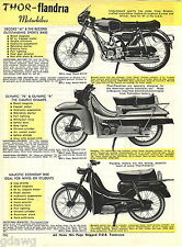 1967 ADVERT Thor Flandria Motorcycle Motorbike Scooter Record 43 Olympic 75 K ++