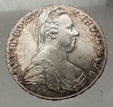 1780-1960 Maria Theresa Austria Germany Queen Silver Thaler Large Coin i57770
