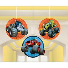 3 Blaze and the Monster Machines Birthday Party Hanging Honeycomb Decorations