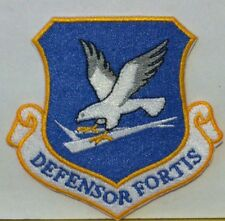 United States Air Force DEFENSOR FORTIS  Iron On Patch USAF