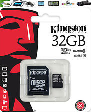 32GB Kingston scheda di memoria Micro SD Per Samsung Galaxy Mini A3 A5 Cellulare