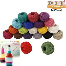24M*6Colour Scrapbooking Crafts Making Roll Natural Jute Rope Twine String Cordk
