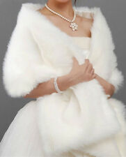 Faux fur Ivory bridal wrap