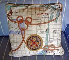 Disney Yacht Club Resort Nautical Throw Pillow Prop with Hidden Mickeys