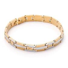 18K Solid Yellow Gold Filled Men's Bracelet Chain 21.9g B70
