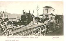 MESSINA  -  Manovra del Treno sul Ferry-Boat alla stazione porto.  #