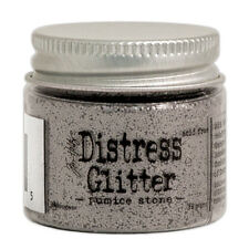 Tim Holtz   Distress Glitter 18gm jar  PUMICE STONE Gray, Stone, Clay